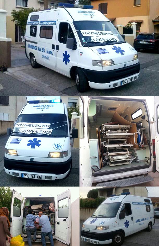 Achat d'une ambulance pour la Syrie