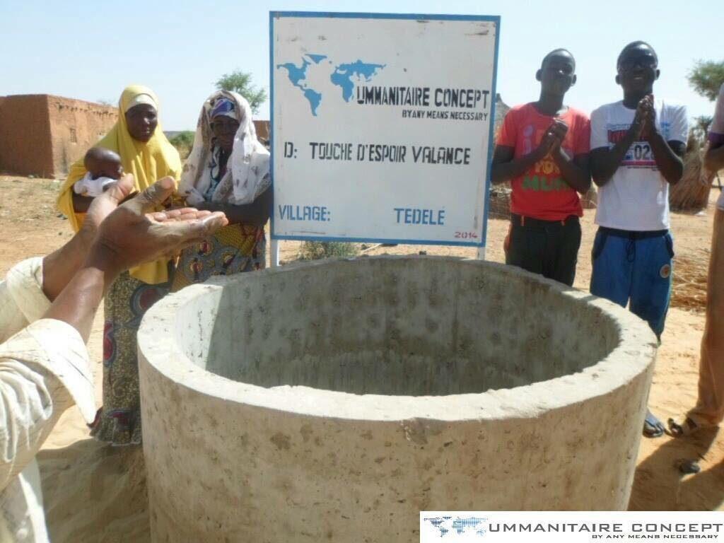 Construction d'un puits à Tedele au Niger en 2015